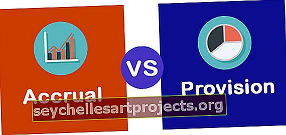 Accrual vs Provision