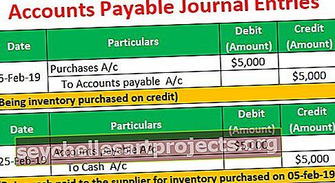 Καταχωρίσεις λογαριασμών πληρωτέων λογαριασμών