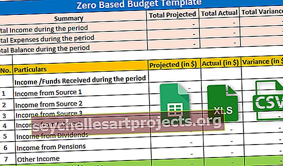 Nulinio biudžeto šablonas