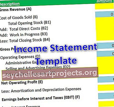 Mẫu báo cáo thu nhập