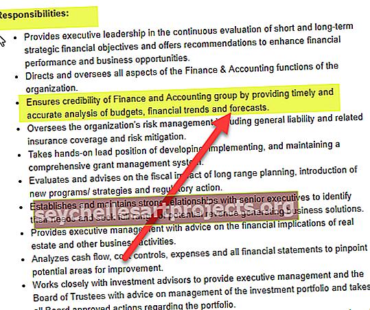 Popis pracovní pozice CFO