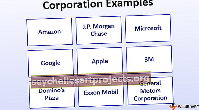 Příklady korporací