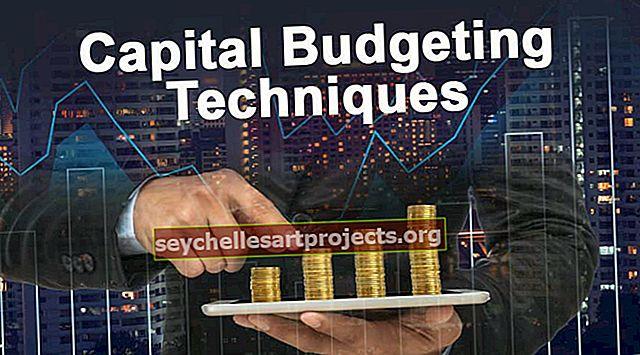 Kapitalo biudžeto sudarymo metodikos