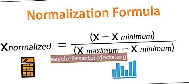 Normalizavimo formulė