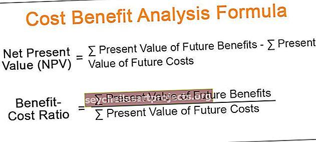 Sąnaudų ir naudos analizės formulė