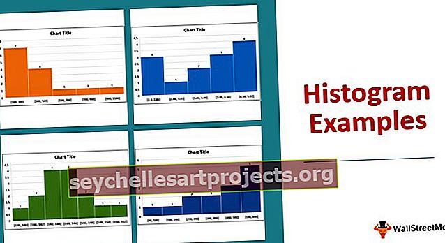 Histogramos pavyzdžiai