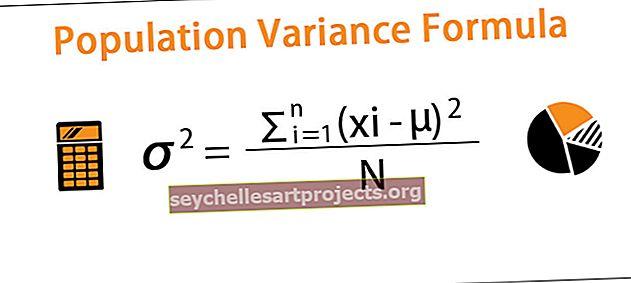 Populiacijos dispersijos formulė