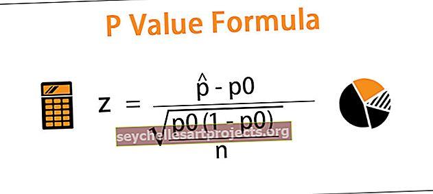 P vertės formulė