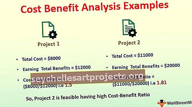 Sąnaudų ir naudos analizės pavyzdžiai