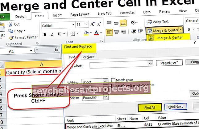 Συγχώνευση και κέντρο στο Excel
