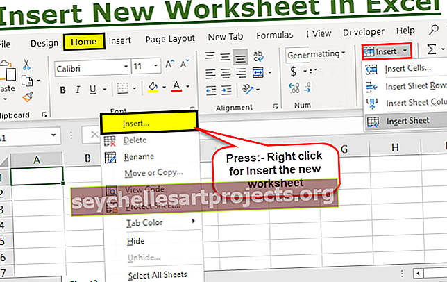 Εισαγωγή νέου φύλλου εργασίας στο Excel