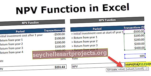 NPV στο Excel
