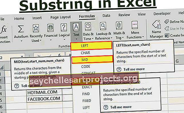 Substring στο Excel