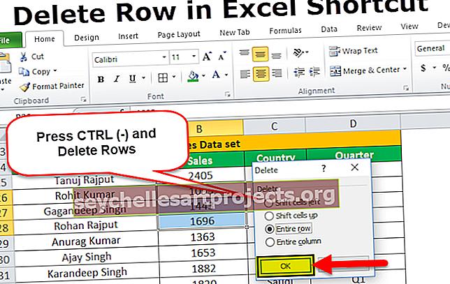 Διαγραφή γραμμής συντόμευσης στο Excel
