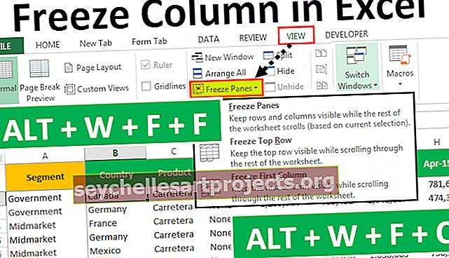 Πάγωμα στηλών στο Excel