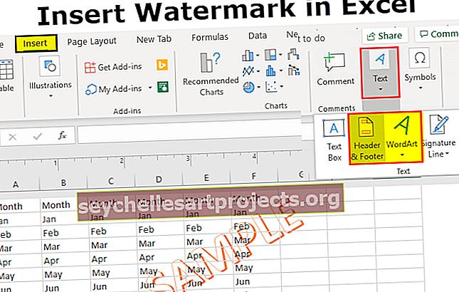 Υδατογράφημα στο Excel
