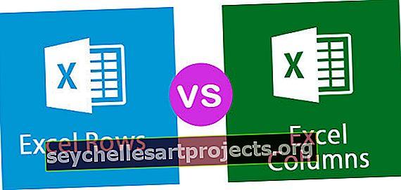 Γραμμές Excel εναντίον στηλών