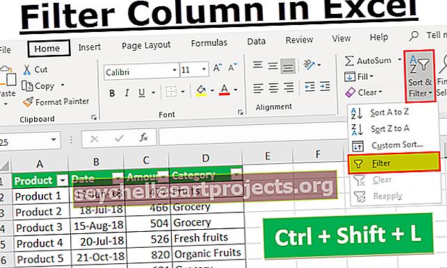 Προσθήκη φίλτρου στο Excel