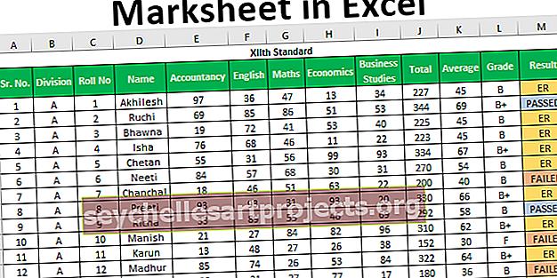 Φύλλο σήματος στο Excel