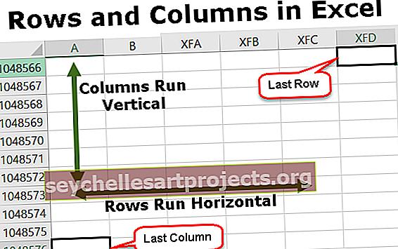 Rivit ja sarakkeet Excelissä