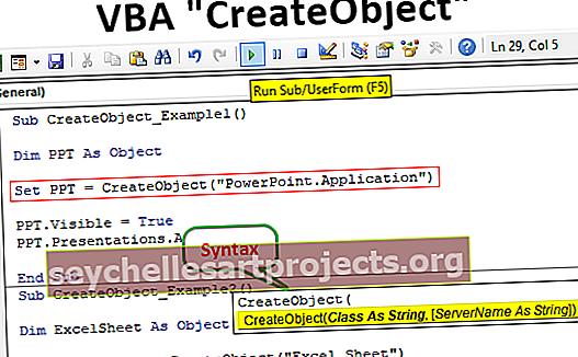"""VBA """"CreateObject"""""""