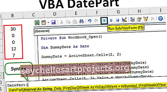 VBA DatePart