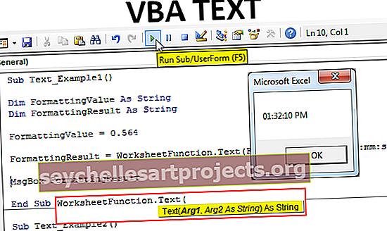 VBA-teksti