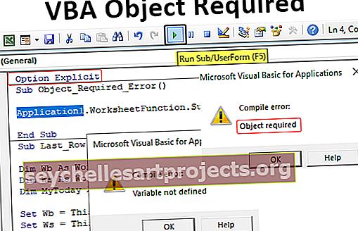 VBA-objekti vaaditaan