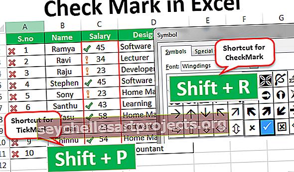 Valintamerkki Excelissä