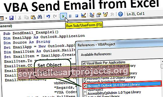 VBA Lähetä sähköpostia Excelistä