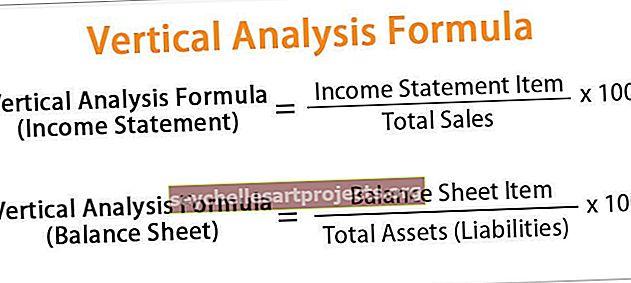 Vzorec vertikální analýzy