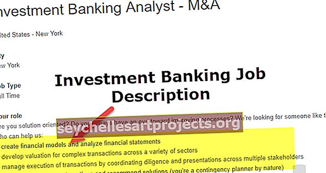 Investicinės bankininkystės darbo aprašymas
