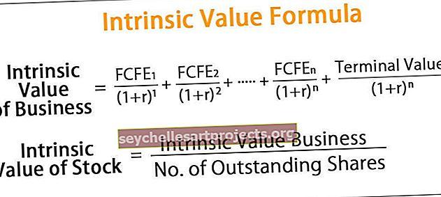 Sisemise väärtuse valem