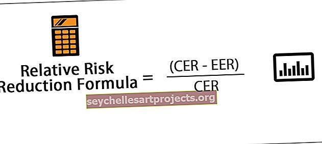 Suhteline riski vähendamise valem